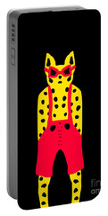 Cool For Cats In Red Dungarees Portable Battery Charger