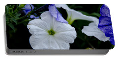 Cool Summer Petunias Portable Battery Charger by Wilma  Birdwell