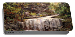 Cool Waterfall Portable Battery Charger by Dorothy Maier