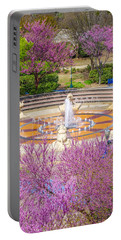 Coolidge Park Fountain In Spring Portable Battery Charger