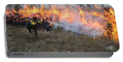 Cooling Down The Norbeck Prescribed Fire. Portable Battery Charger