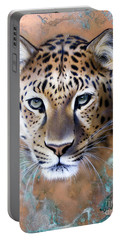 Copper Stealth - Leopard Portable Battery Charger by Sandi Baker