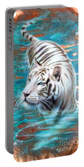 Copper White Tiger Portable Battery Charger