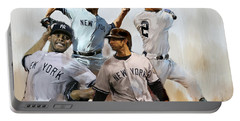Core  Derek Jeter Mariano Rivera  Andy Pettitte Jorge Posada Portable Battery Charger by Iconic Images Art Gallery David Pucciarelli