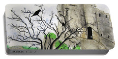 Corfe Castle And Crow Portable Battery Charger
