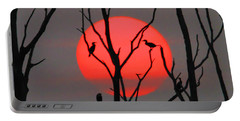 Cormorants At Sunrise Portable Battery Charger by Roger Becker