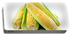 Corn Ears On White Background Portable Battery Charger