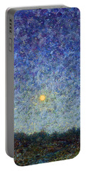 Portable Battery Charger featuring the painting Cornbread Moon by James W Johnson