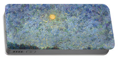 Portable Battery Charger featuring the painting Cornbread Moon - Square by James W Johnson