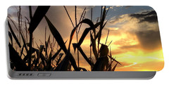 Cornfield Sundown Portable Battery Charger by Angela Rath