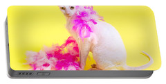 Cornish Rex Portable Battery Charger by Verena Matthew