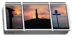 Portable Battery Charger featuring the photograph Cornish Sunsets by Terri Waters