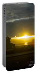Coronado's Beach At Sunset Portable Battery Charger by Claudia Ellis