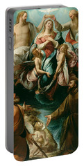 Coronation Of The Virgin With Saints Joseph And Francis Of Assisi Portable Battery Charger