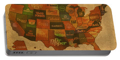 Corporate America Map Portable Battery Charger