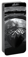 Corvette In Black And White Portable Battery Charger