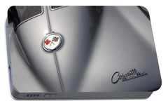 Portable Battery Charger featuring the photograph Corvette Sting Ray 1963 by John Schneider
