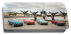 Corvettes And B17 Bomber -0027c23 Portable Battery Charger