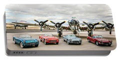 Corvettes And B17 Bomber Portable Battery Charger