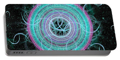 Portable Battery Charger featuring the digital art Cosmic Circle by Shawn Dall