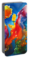 Cosmic Fire Abstract  Portable Battery Charger by Carlin Blahnik