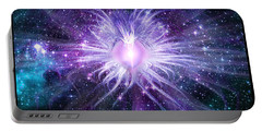 Portable Battery Charger featuring the digital art Cosmic Heart Of The Universe by Shawn Dall