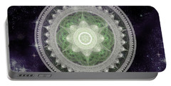 Cosmic Medallions Earth Portable Battery Charger by Shawn Dall