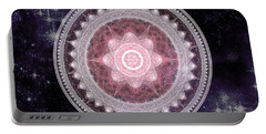 Cosmic Medallions Fire Portable Battery Charger by Shawn Dall