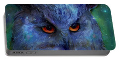 Cosmic Owl Painting Portable Battery Charger
