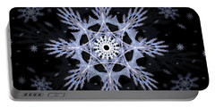 Cosmic Snowflakes Portable Battery Charger by Shawn Dall