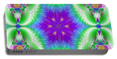 Cosmic Spiral Kaleidoscope 10 Portable Battery Charger