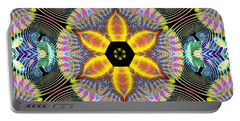 Cosmic Spiral Kaleidoscope 13 Portable Battery Charger