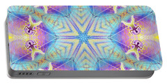 Cosmic Spiral Kaleidoscope 17 Portable Battery Charger