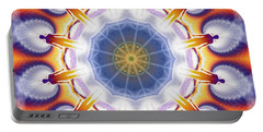 Cosmic Spiral Kaleidoscope 34 Portable Battery Charger