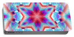 Cosmic Spiral Kaleidoscope 45 Portable Battery Charger
