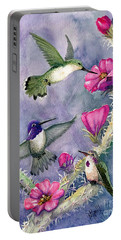 Costa Hummingbird Family Portable Battery Charger by Marilyn Smith
