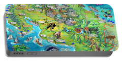 Costa Rica Map Illustration Portable Battery Charger