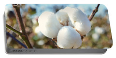 Cotton Boll Iv Portable Battery Charger by Debbie Portwood