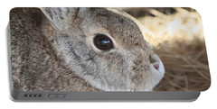 Cottontail Close-up Portable Battery Charger