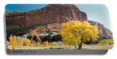 Cottonwoods In Fall The Castlecapitol Reef National Park Portable Battery Charger