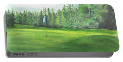 Country Club Portable Battery Charger by Troy Levesque