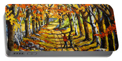 Country Lane Romance By Prankearts Portable Battery Charger