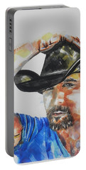 Country Singer Tim Mcgraw 02 Portable Battery Charger by Chrisann Ellis