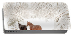 Country Snow Portable Battery Charger by Cheryl Baxter