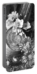 Country Summer - Bw 03 Portable Battery Charger by Pamela Critchlow
