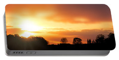 Country Sunset Silhouette Portable Battery Charger
