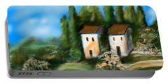 Portable Battery Charger featuring the digital art Countryside by Christine Fournier