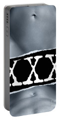 Couple Making Love And Xxx Sign Black And White Portable Battery Charger