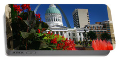 Courthouse Arch Skyline Fountain Portable Battery Charger