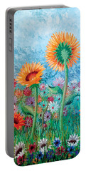 Courting Sunflowers Portable Battery Charger